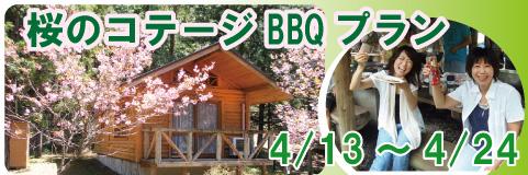【4/13~24 】桜のコテージBBQプラン